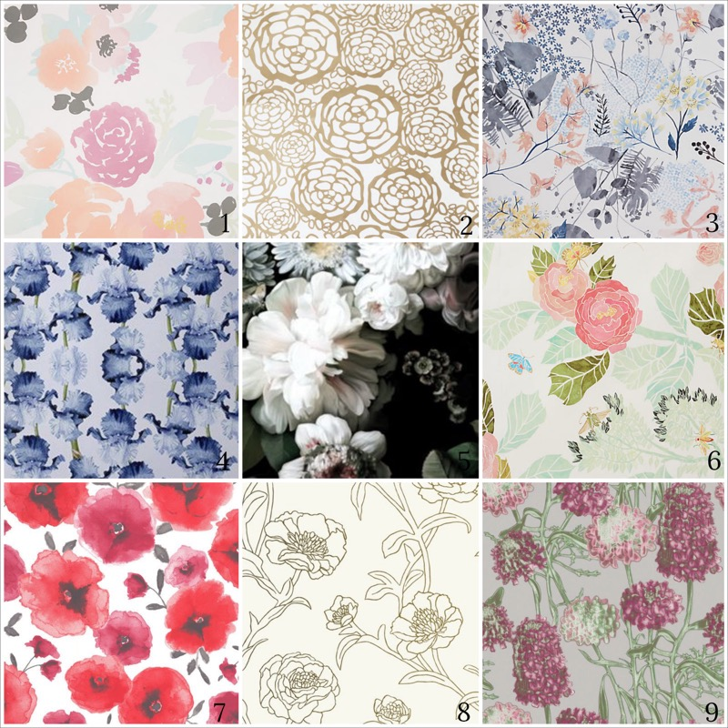 floral & watercolor wallpaper-1