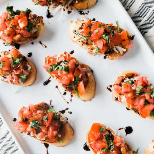 Classic Bruschetta with Spicy Balsamic Glaze