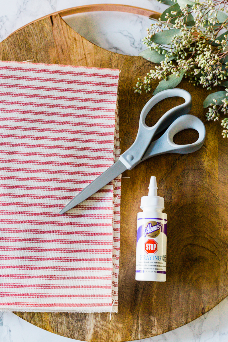 no sew napkins_supplies