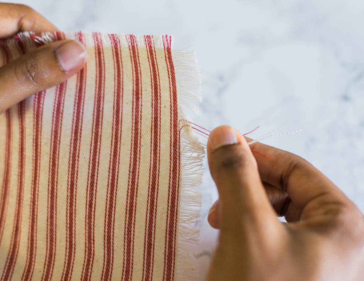 no sew napkins_step2